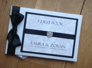 Vintage Damask Wedding Guest Book