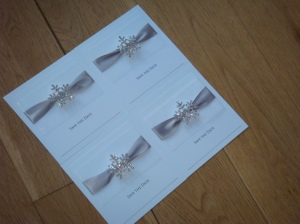 Crystal diamante snowflake winter wedding invitation