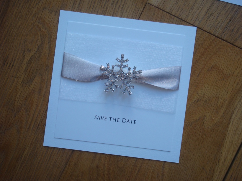 Crystal snowfake save the date