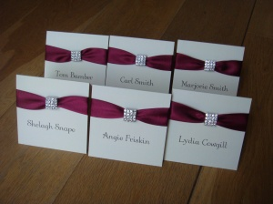 Wedding guest name card