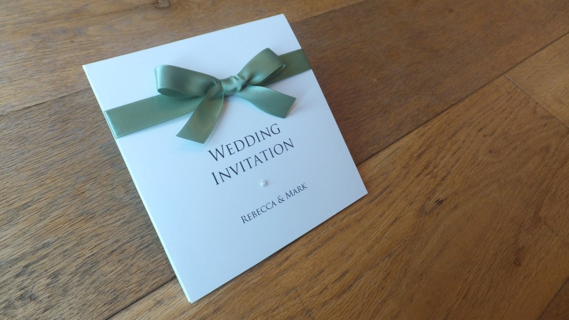 Sage Green Wedding Invitation
