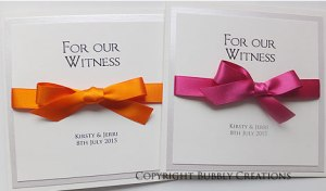 bridesmaid, usher, best man, witness thank you cards wedding