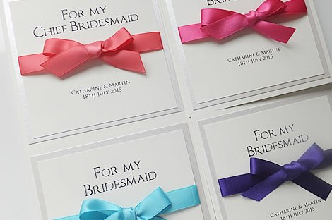 bridal party thank you cards, bridesmaid, usher, witness, best man, flower girl