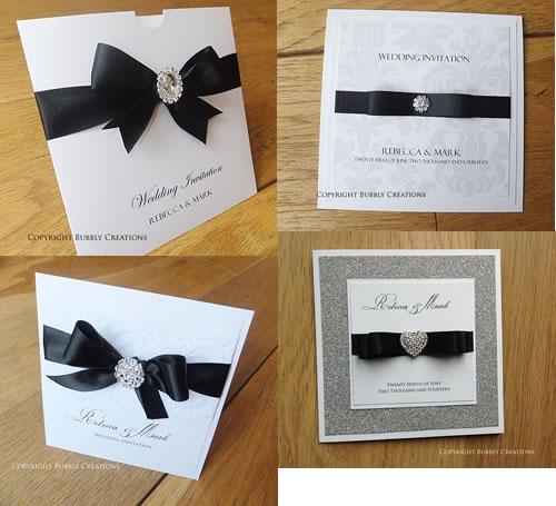 black and white, monochrome, black tie wedding invitations and stationery