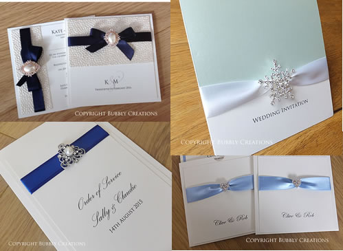 blue luxury wedding invitations and stationery