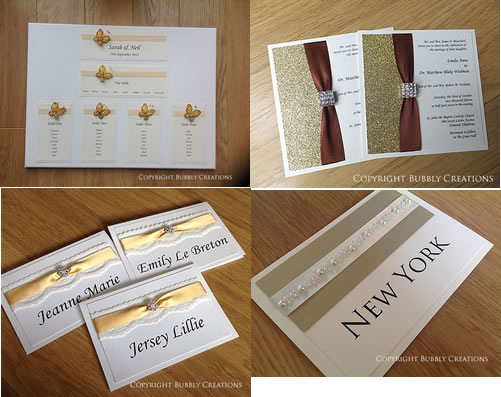 gold, glitter, sparkle wedding invitations and stationery