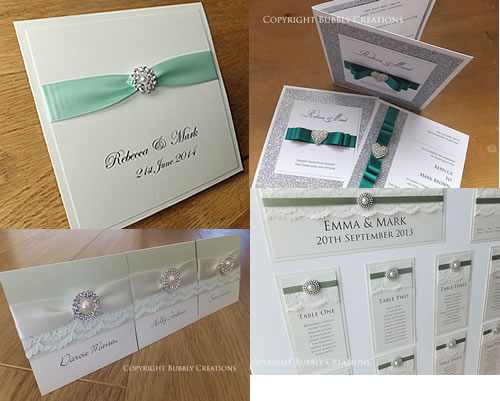 green wedding invitations and stationery