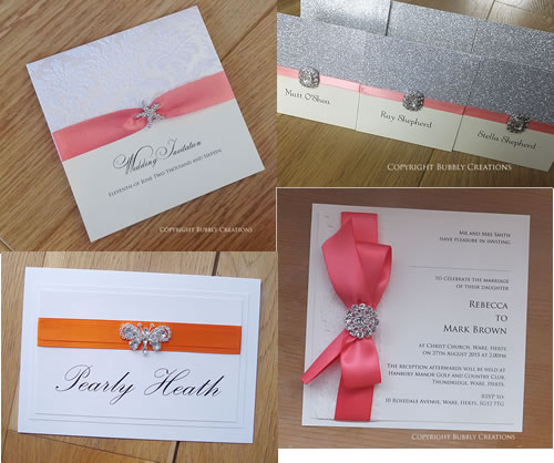 Orange, Coral Wedding Invitations and Stationery
