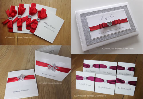 Red Wedding Invitations and Stationery