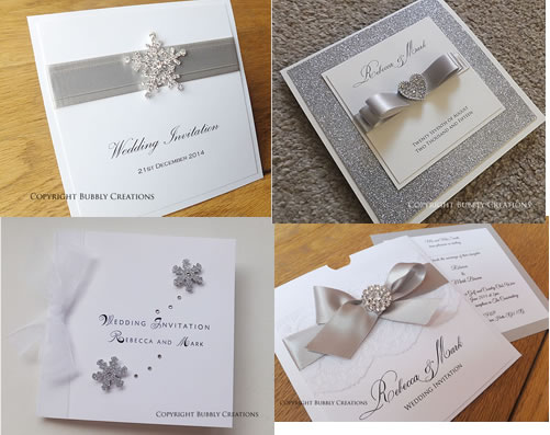 silver, grey, glitter wedding invitations and stationery