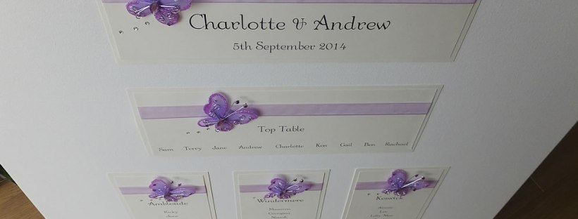 butterfly wedding table plan