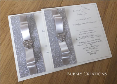 Flat Wedding Invitation in Silver
